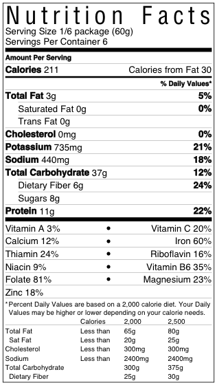 Smoked Chickpea Soup Nutrition Facts